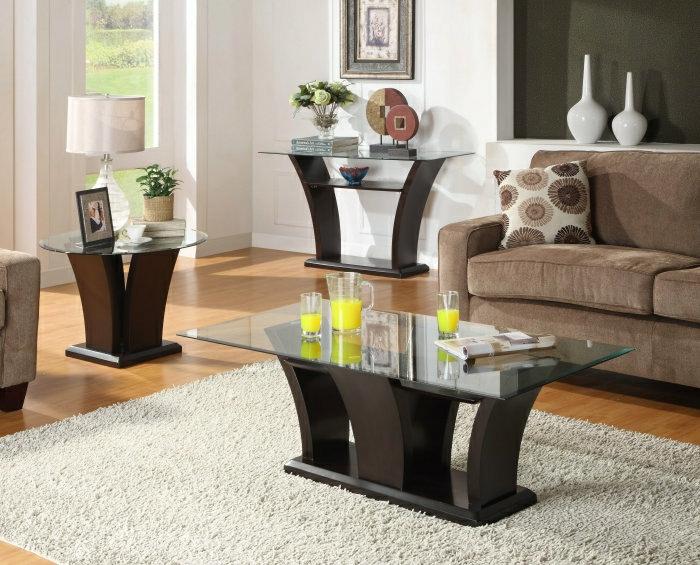 Petite table basse de salon en verre - Petites tables de salon ...