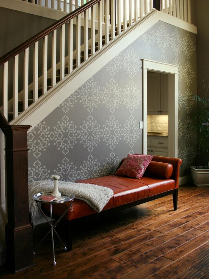 pochoirs-muraux-décoration-chambre-motif-floraux-pochoir-mural