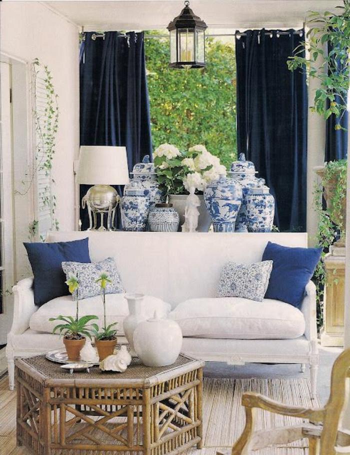 rideau-en-lin-bleu-foncé-style-provençal