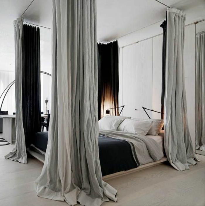 Le rideau en lin une belle d coration pour l 39 int rieur for Rideau pour chambre a coucher