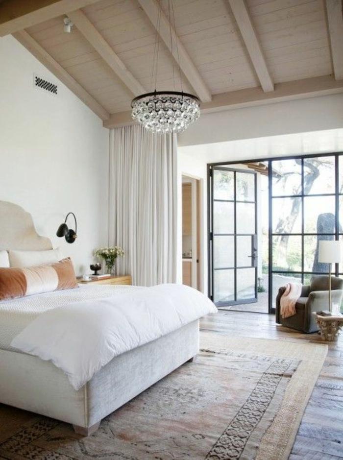 rideau-en-lin-chambres-à-coucher-matières-naturelles