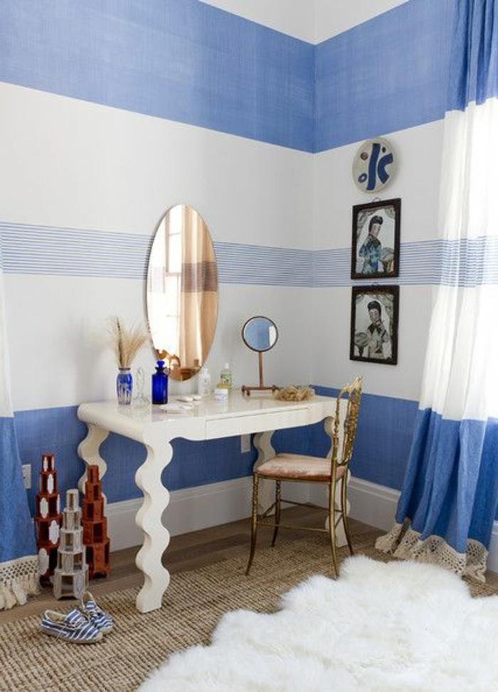 rideau-en-lin-déco-marine-de-salle