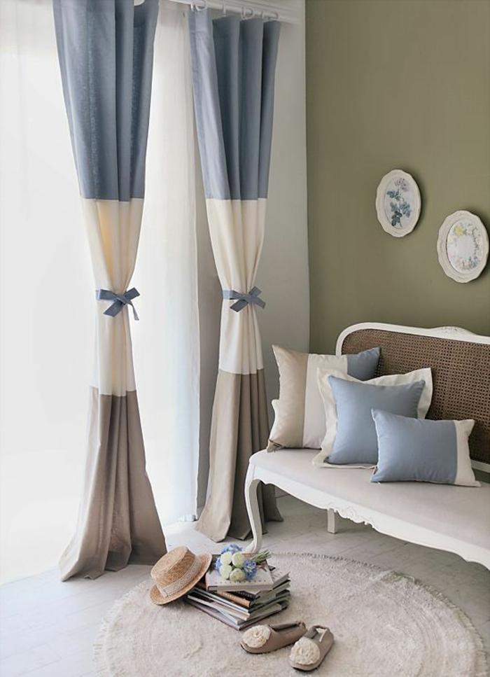 rideau-en-lin-intérieur-vintage-clair