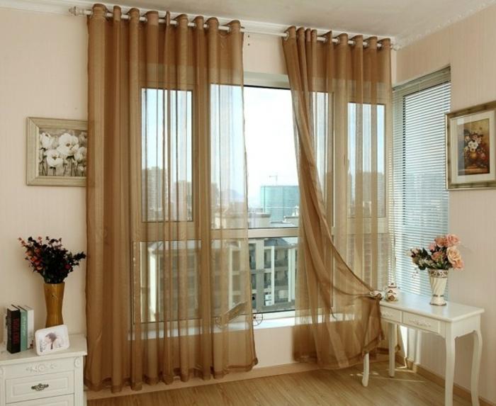 Le rideau en lin une belle d coration pour l 39 int rieur for Absolument maison rideaux