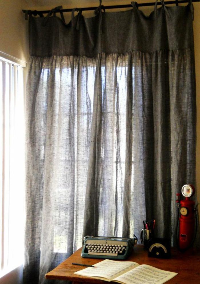 le rideau en lin une belle d coration pour l 39 int rieur