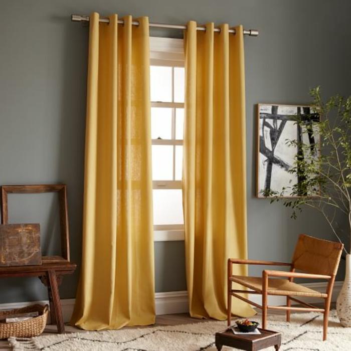 rideau-en-lin-rideau-lin-jaune-chaise-originale