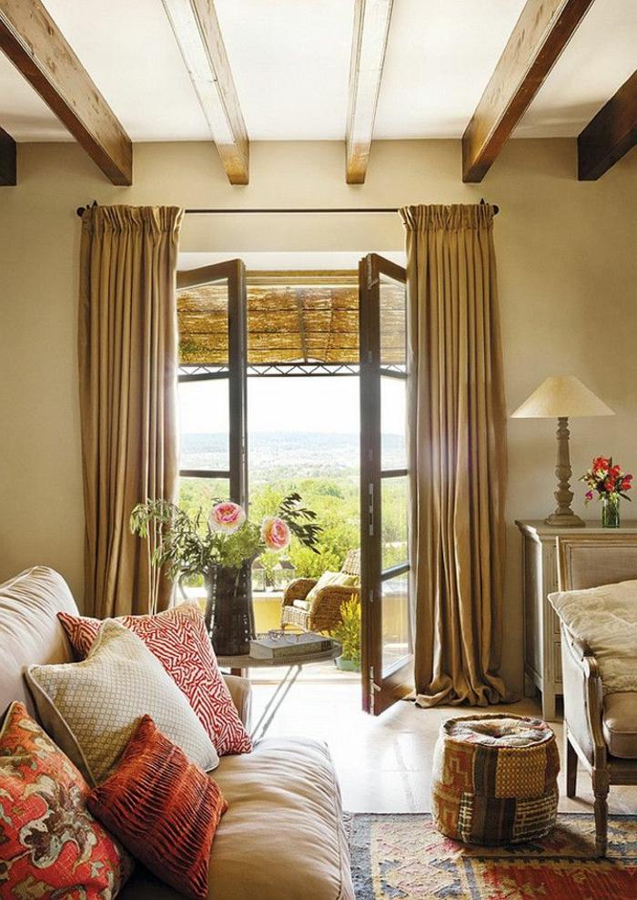 rideau-en-lin-salle-déco-marocaine