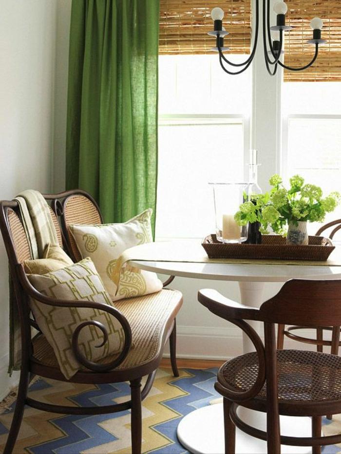 rideau-en-lin-vert-jolie-décoration-intérieure