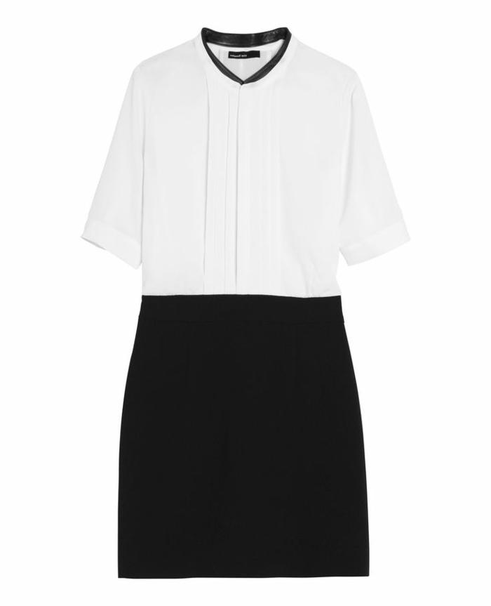 robe-blanc-noir-elegante-chemise-robe-elegante-d-ete-moderne