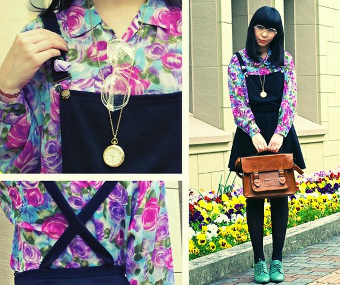 robe-chasuble-à-prints-floraux-super-colorés