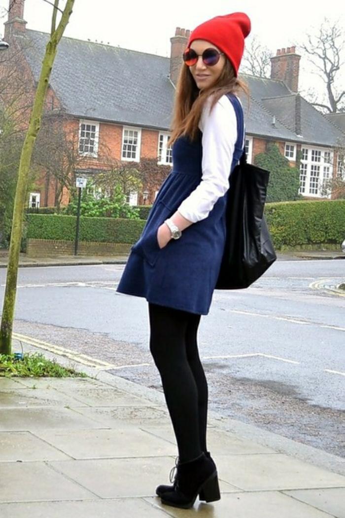 robe-chasuble-chemise-blanche-et-collant-noir