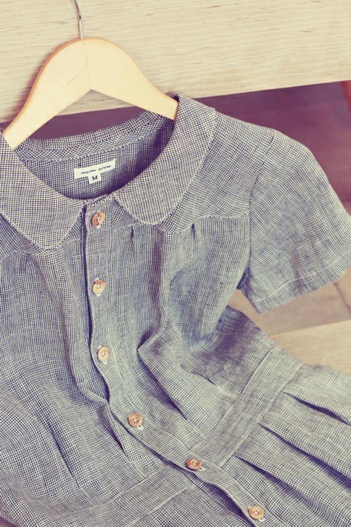 robe-chemise-robe-d-ete-carreaux-robe-bleue-d-ete-chemise-robe