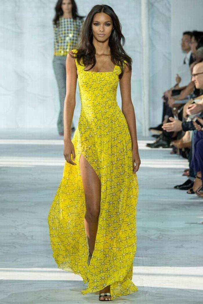 robe-longue-d-été-robes-longues-d-été-chique-casuel-jaune