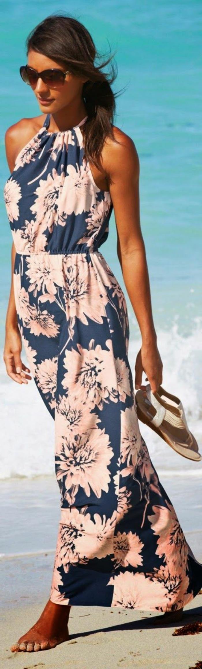 robe-longue-fluide-été-robe-été-mi-longue-plage-sable