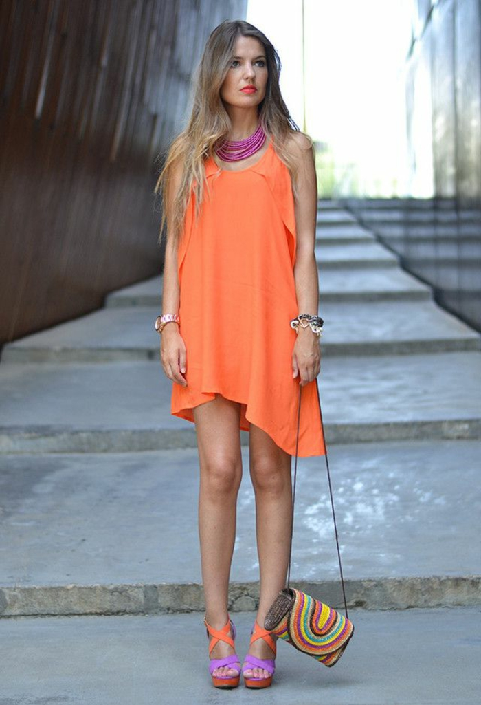 robe-tunique-asymétrique-orange