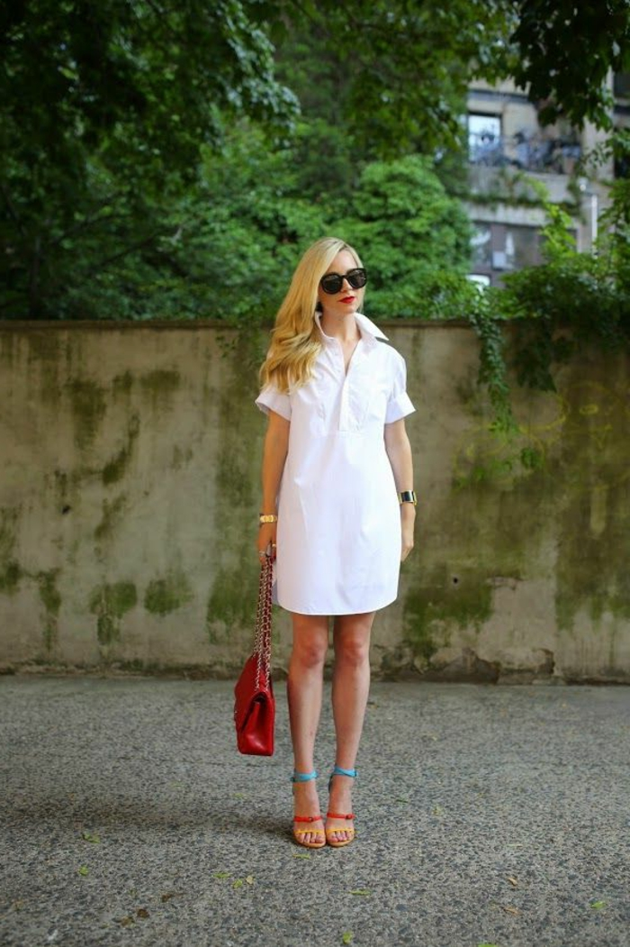 robe-tunique-blanche-pour-l'été