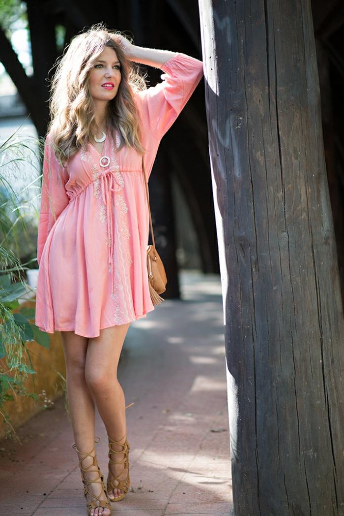 robe-tunique-rose-super-féminine