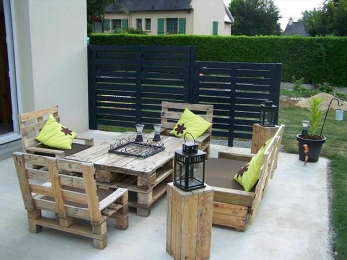 Le fauteuil en palette est le favori incontest pour la - Salon de jardin palette bois ...