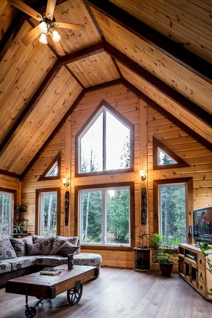 salon-de-style-rustique-meubles-en-bois-massif-chalet-en-bois-habitable-dans-la-foret