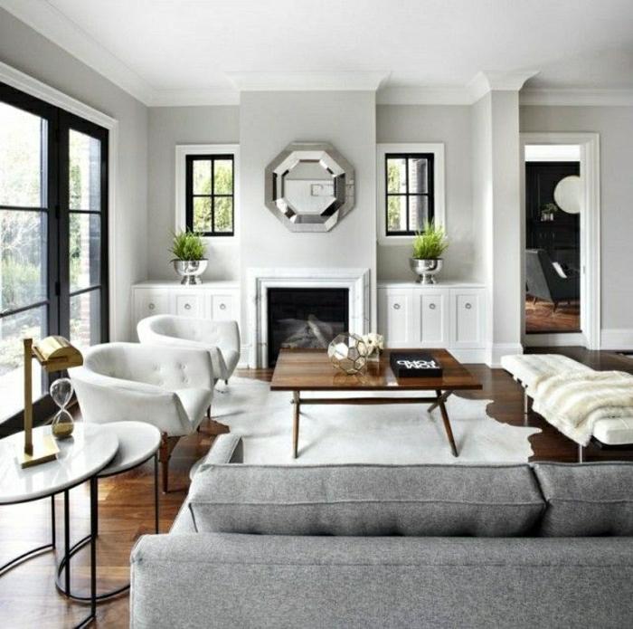 salon-moderne-avec-une-table-basse-en-bois-table-basse-design-ikea-canapé-gris