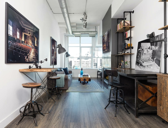 Le meuble tv style industriel en 50 images for Chambre commercial
