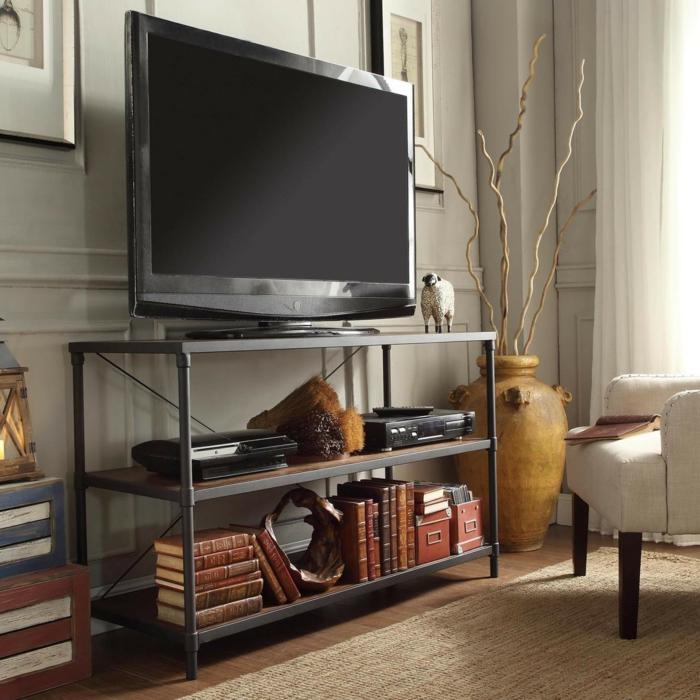 salon-stylé-avec-meuble-tv-industriel-chique