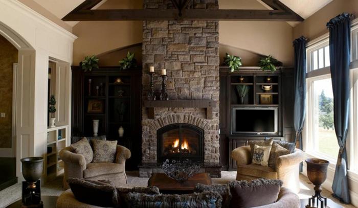 salon-stylé-avec-meuble-tv-industriel-confortable-salle-de-séjour