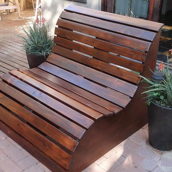 Voici nos exemples pour un banc de jardin - Salon de jardin bois pas cher ...