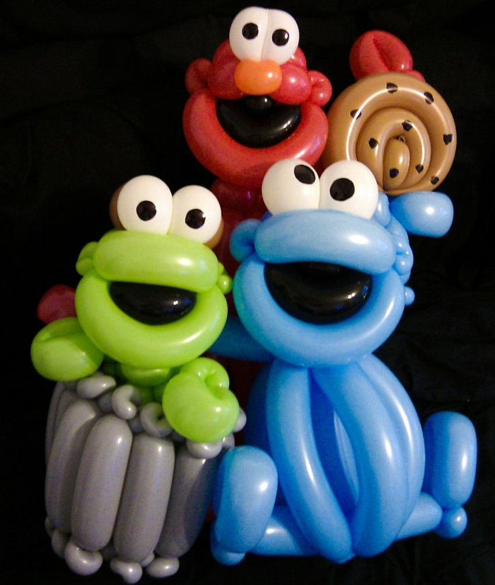 sculpture-ballon-facile-idée-originale-cookie-monster-seasam-street