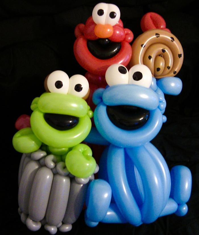 sculpture-ballon-facile-idée-originale-cookie-monster-seasam-street