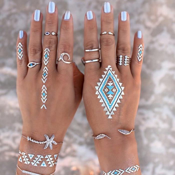 significations-tatouages-tatouages-géométriques-dorée