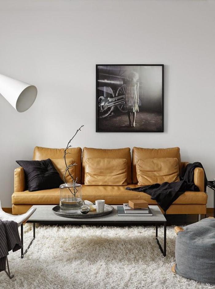 style-scandinave-canapé-beige-meubles-scandinaves-palaiseau-canapé-marron-en-cuir