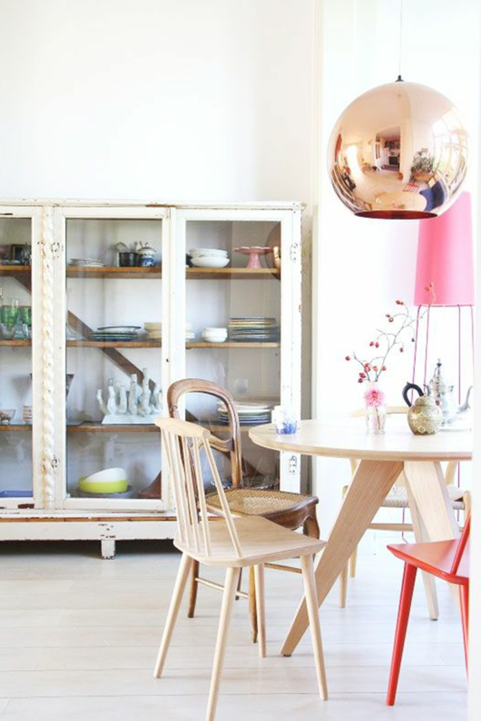 suspension-cuivre-buffet-vitrine