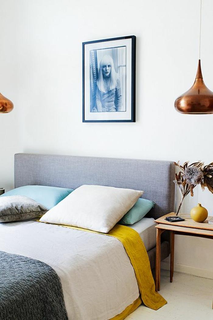 suspension-cuivre-chambre-à-coucher-tables-gigognes