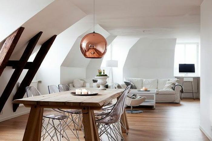 suspension-cuivre-suspension-boule-dans-une-chambre-attique