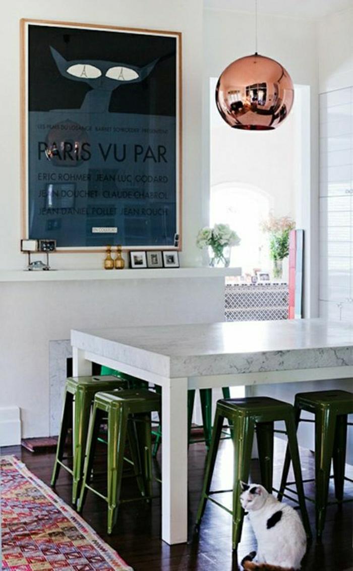 suspension-cuivre-table-top-marbre