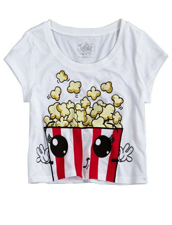 t-shirt-blanc-femme-t-shirt-personnalisable-t-shirt-personnalisé-moderne-popcorn