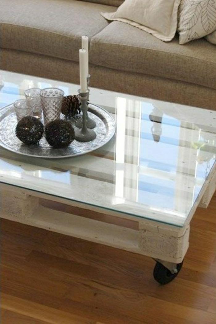 Table basse plateau bois massif - Customiser un plateau en bois ...