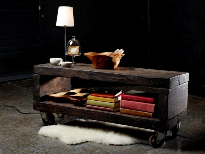 table-basse-industrielle-meuble-télé-créative-idée