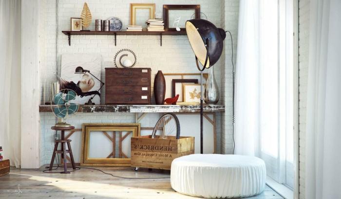 table-basse-industrielle-meuble-télé-etagere
