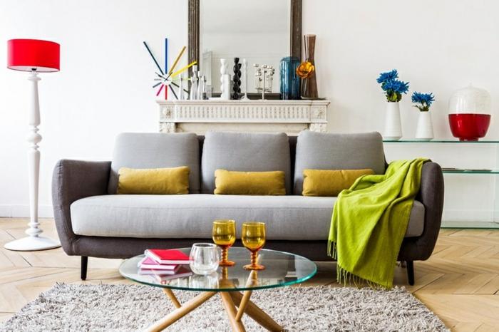 table-basse-ronde-bois-et-verre-motifs-en-couleurs-vives