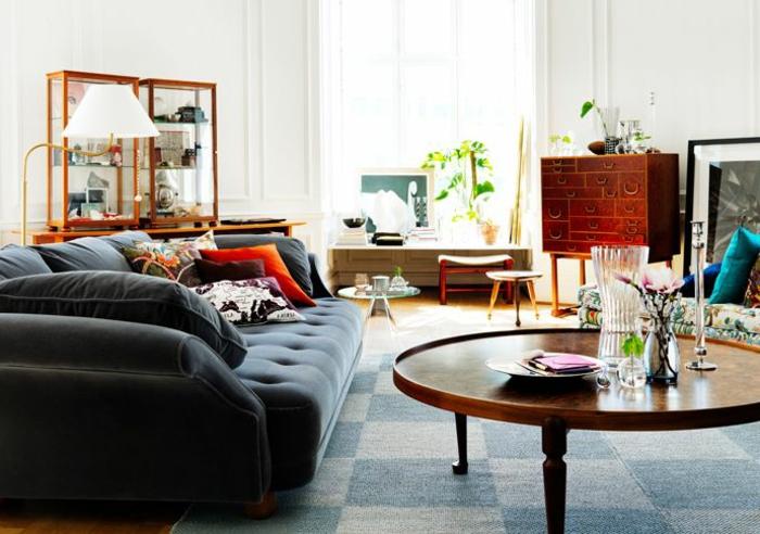 table-basse-ronde-grand-sofa-cosy-salle-de-séjour