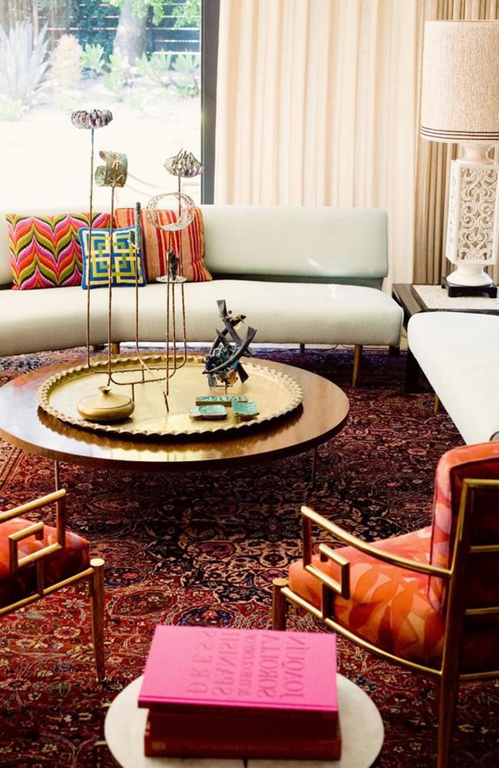 table-basse-ronde-intérieur-unique-couleurs-et-prints-intenses