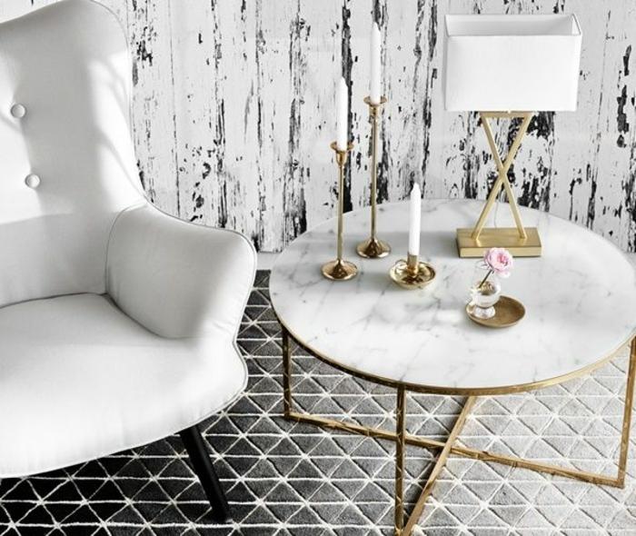 Deco table basse marbre for Marbre decoration