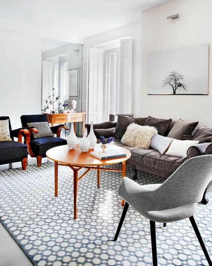 table-basse-ronde-salle-de-séjour-vigoureuse-et-belle