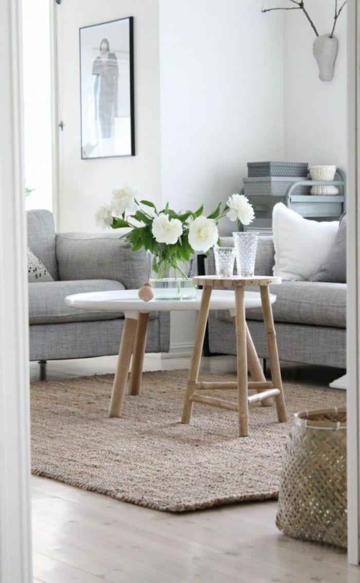 La table basse scandinave   simplicité et beau style