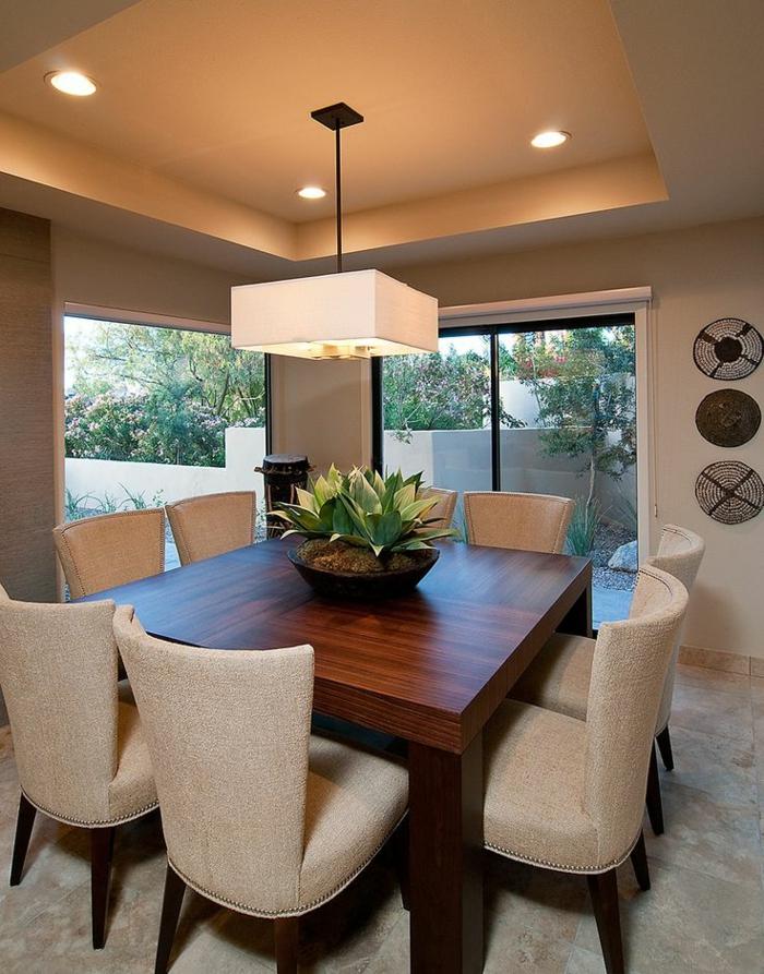 table-carrée-salle-de-déjeuner-complète-grande-table-bois-massif