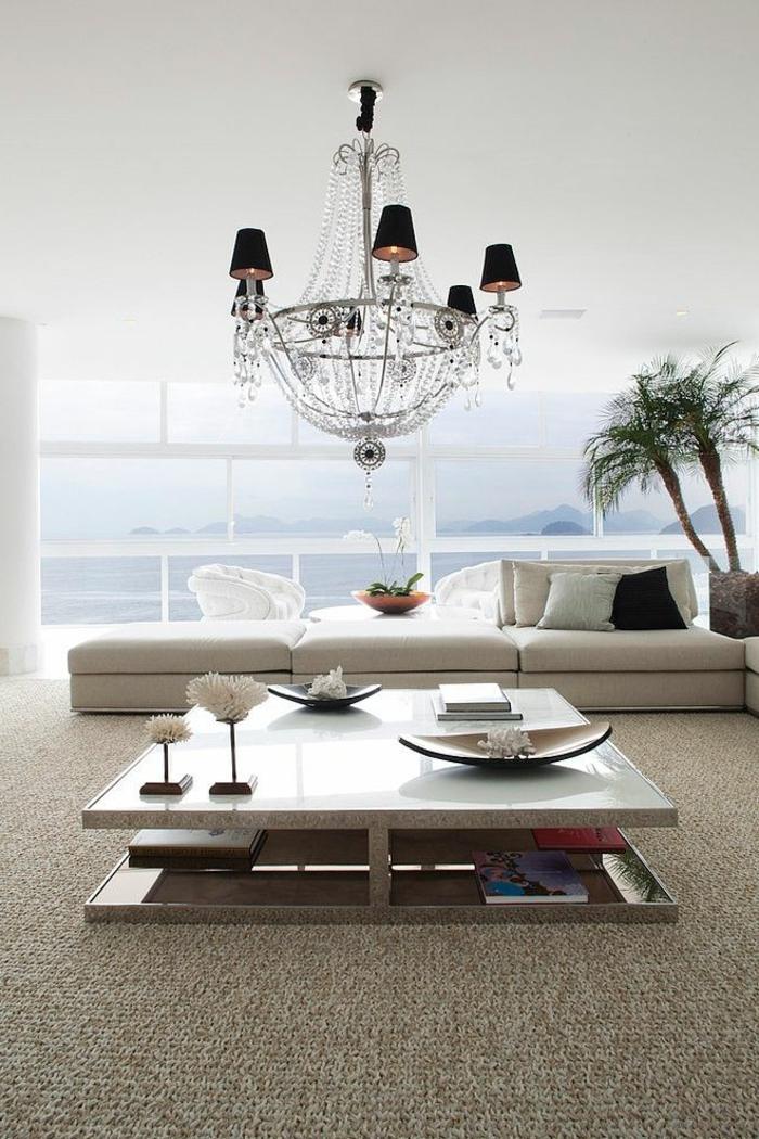 la table carr e comme l ment d co. Black Bedroom Furniture Sets. Home Design Ideas