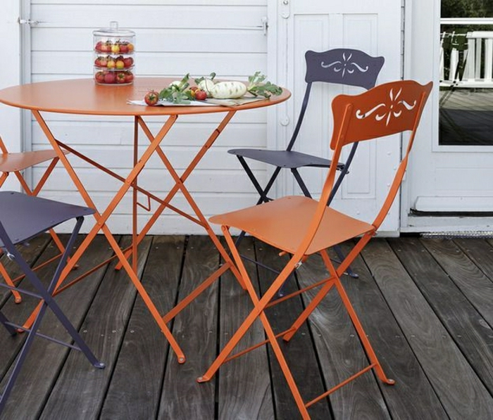 Beautiful table de jardin pliante en fer images awesome - Mobilier jardin fer forge pas cher saint denis ...