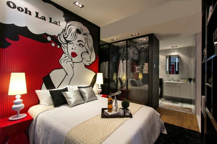 tableau-pop-art-intérieur-fantastique-chambre-à-coucher